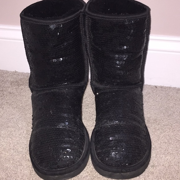 AUTHENTIC Ugg Black Sparkle Boots